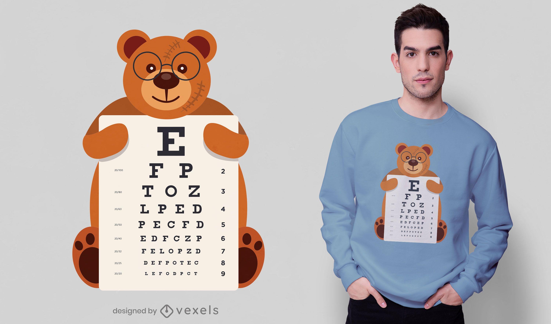 Diseño de camiseta con gráfico de ojos de oso