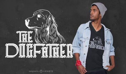 O design da camiseta dogfather