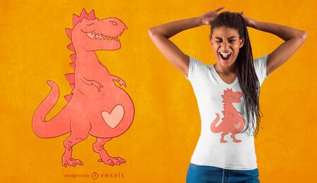 Diseño de camiseta embarazada t-rex