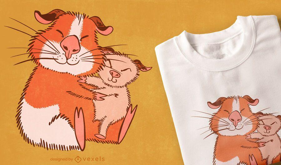 Design de t-shirt para mãe porquinho-da-índia