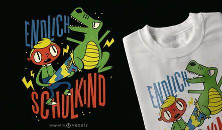 Finalmente desenho de t-shirt de estudante