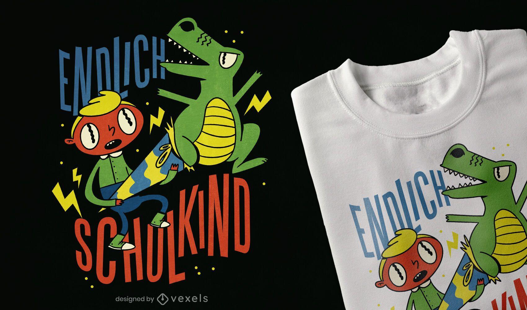 Finalmente diseño de camiseta de estudiante.