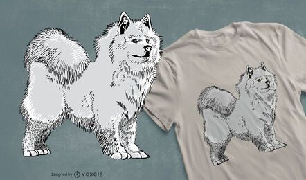 Design de camiseta para cachorro Samoyed