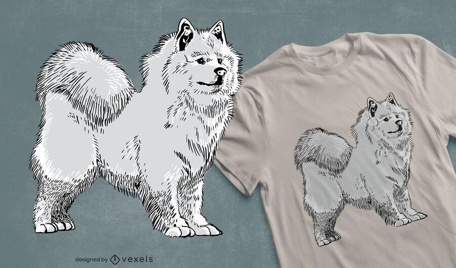 Design de camiseta para cachorro Samoyed