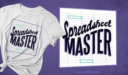 Spreadsheet master t-shirt design