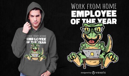 Diseño de camiseta empleado del año.