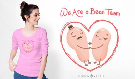 A bean team t-shirt design