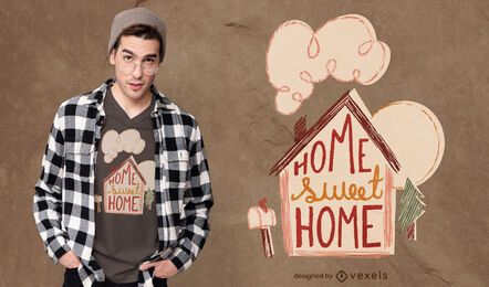 Home sweet home t-shirt design