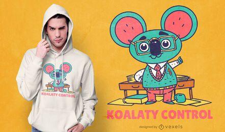 Diseño de camiseta de control de koalaty