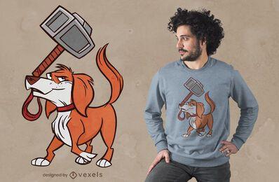 Diseño de camiseta de perro martillo