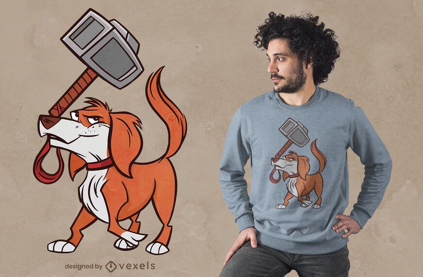 Hammer dog t-shirt design