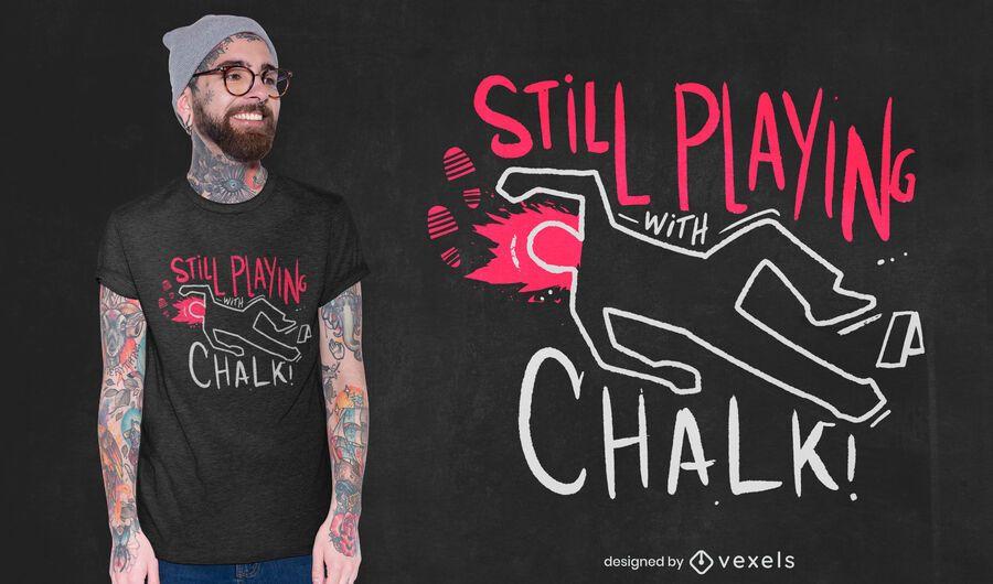 Chalk outline t-shirt design