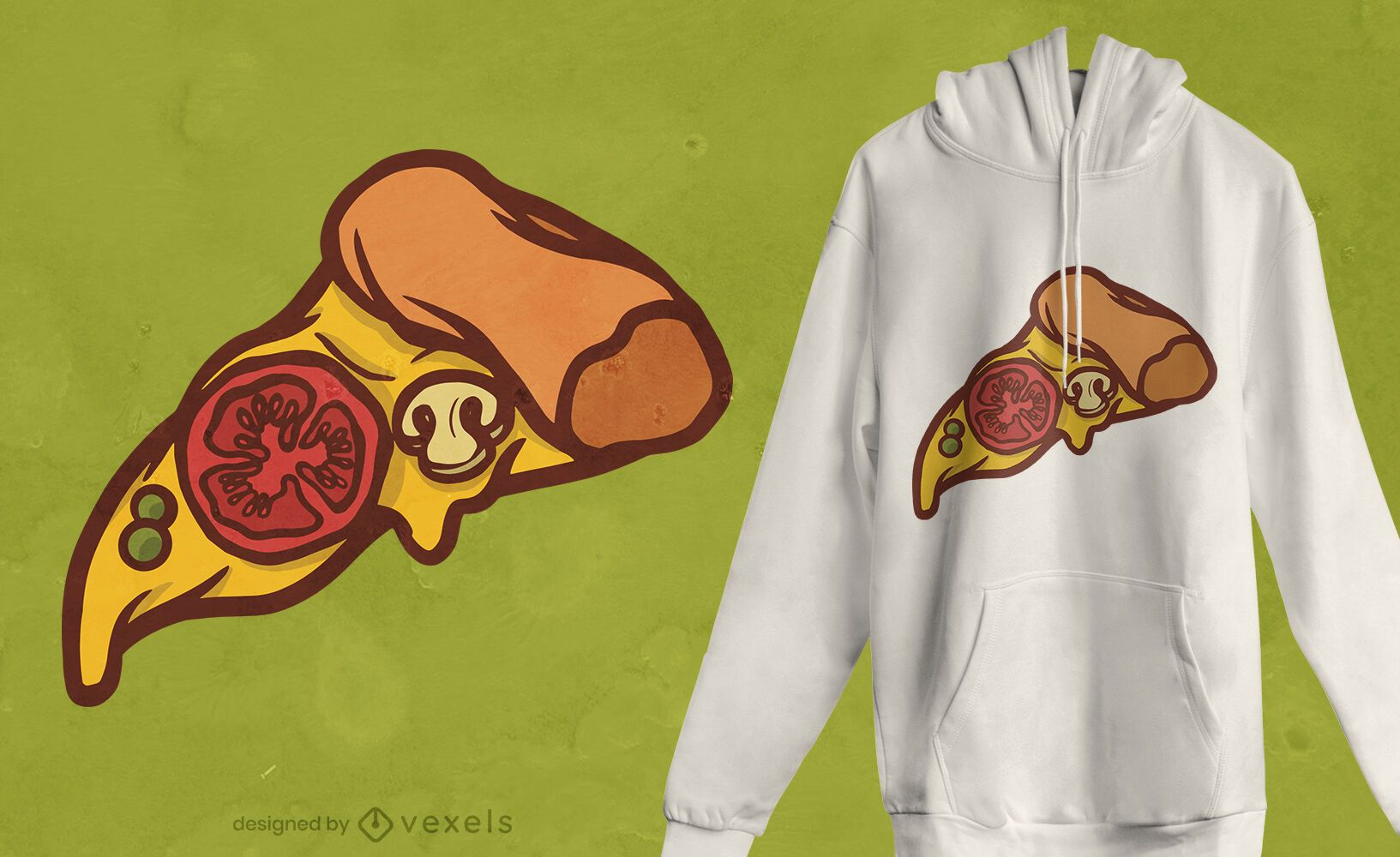Pizza slice food t-shirt design