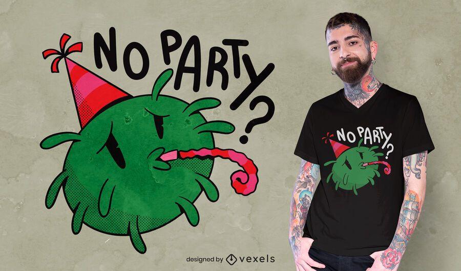 Design triste de t-shirt covid