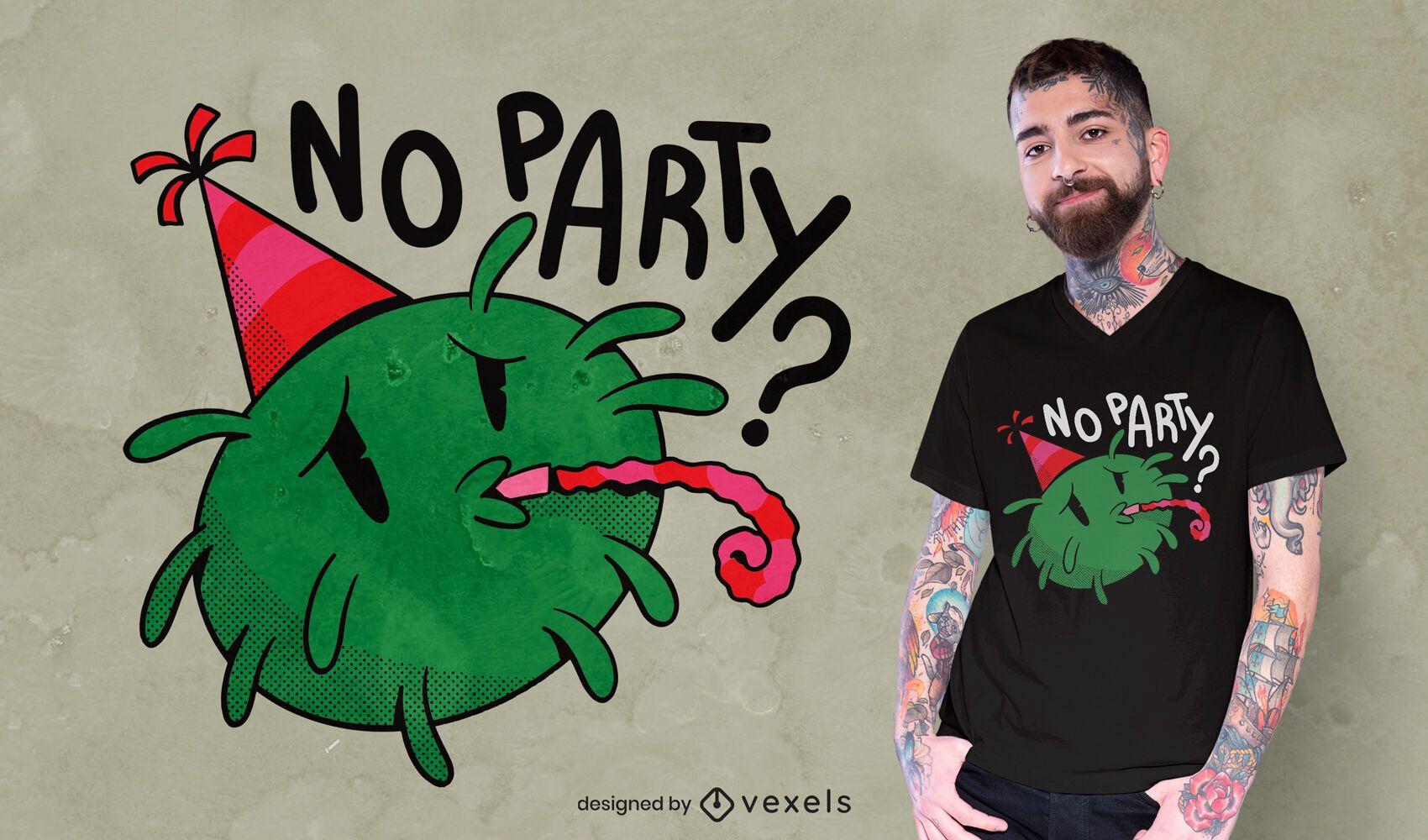 Diseño de camiseta triste covid