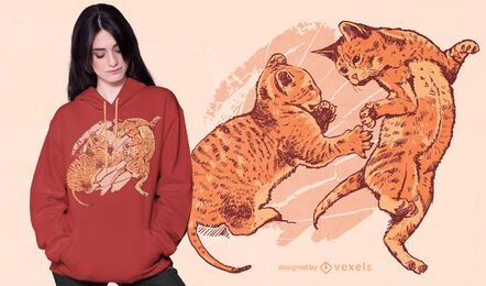 Playful kittens t-shirt design