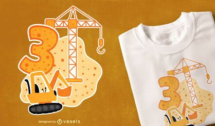 Birthday construction t-shirt design
