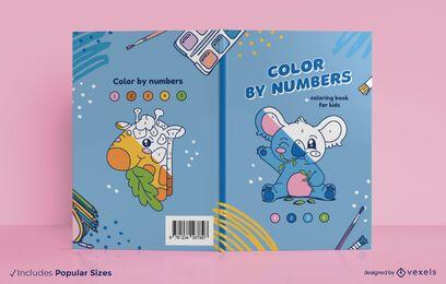Color por diseño de portada de libro de números