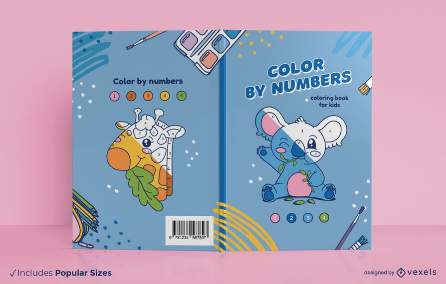 Color by numbers book cover design
