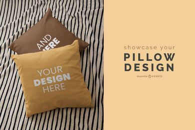 Throw pillows mockup design