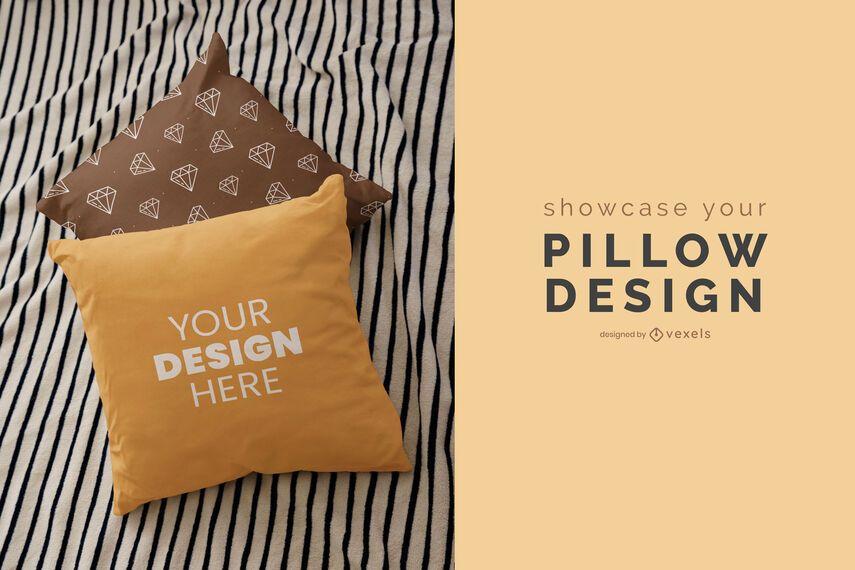 Throw pillows mockup design