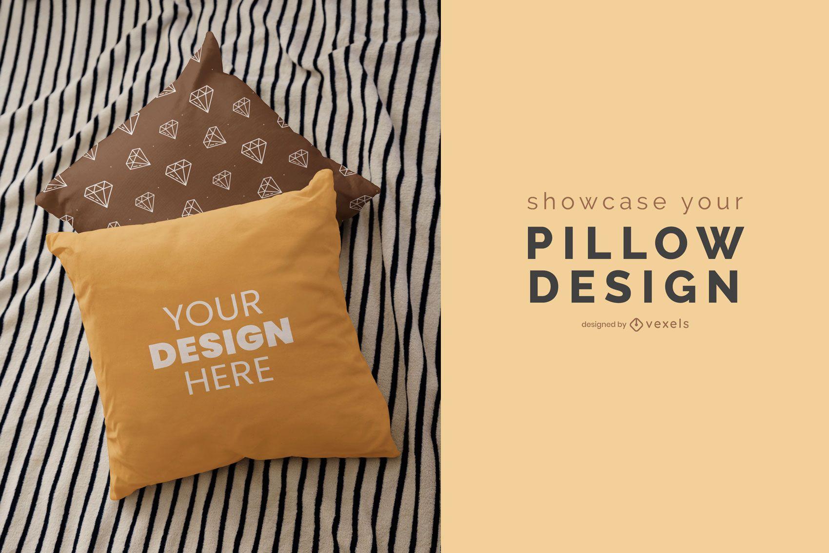 Diseño de maqueta de cojines