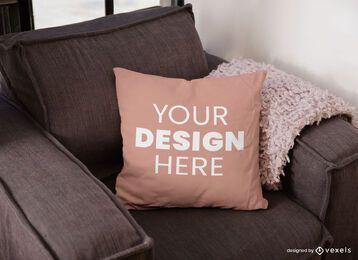 Projeto de maquete de almofada de sofá
