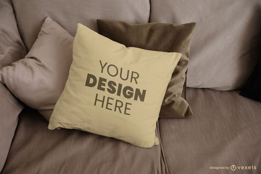 Couch pillow mockup design