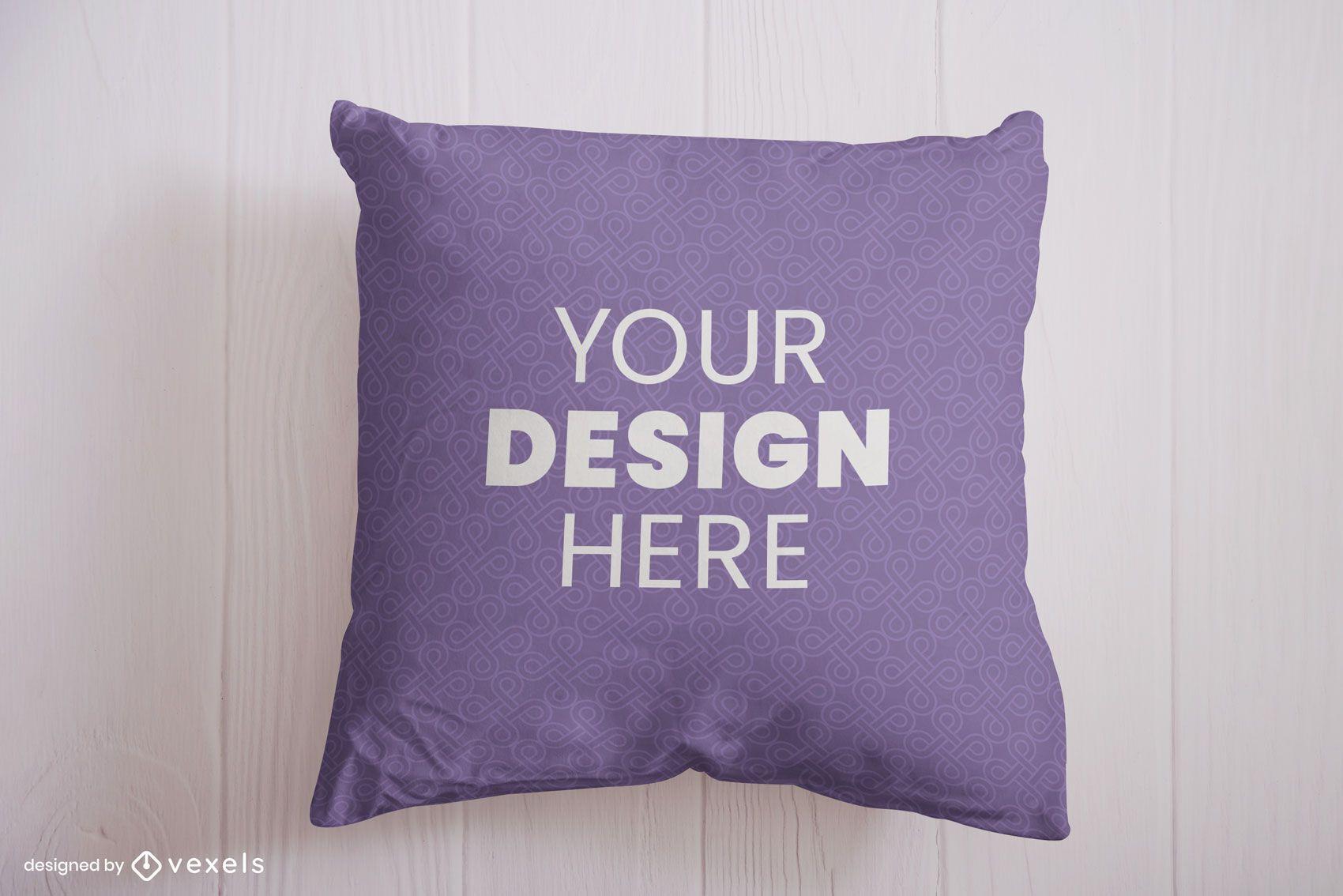 Design de maquete de travesseiro psd