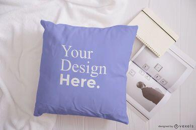 Composición de la maqueta de la revista de almohadas