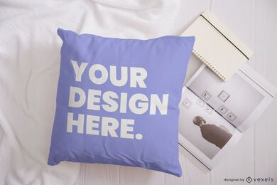 Pillow magazine mockup composition