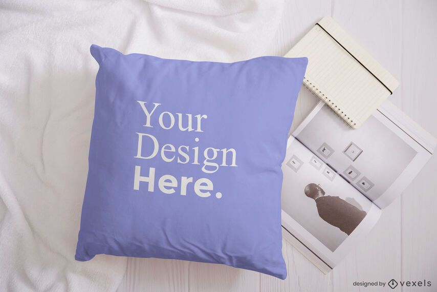 Pillow magazine mockup composition