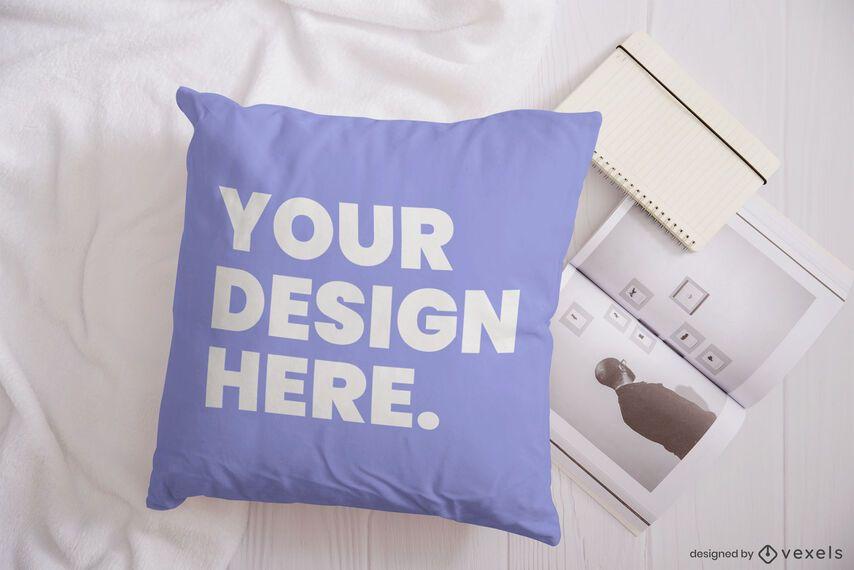 Composição da maquete da revista Pillow