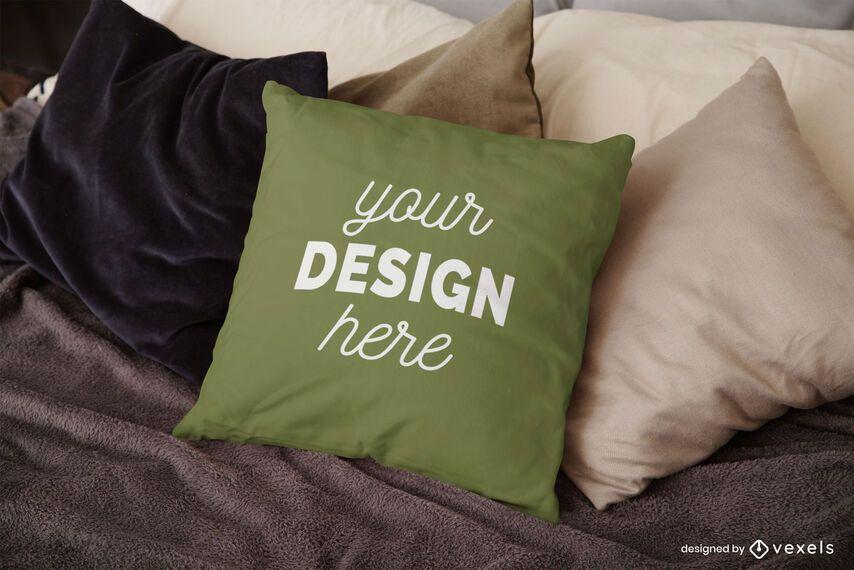 Bed pillow mockup design
