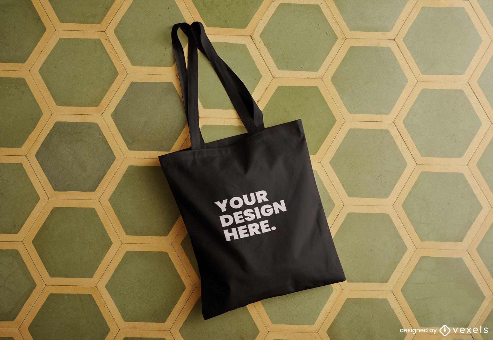 Diseño de maqueta de bolso de mano psd
