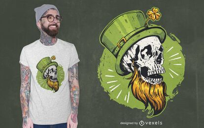 St patrick's skull t-shirt design