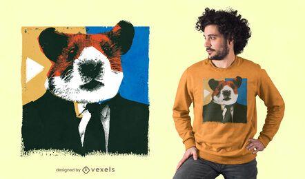 Hamsterkopf-T-Shirt Design