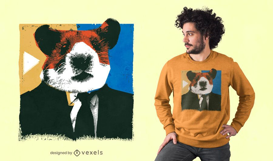 Design de t-shirt com cabeça de hamster