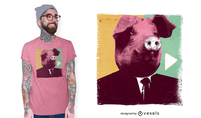 Pig head t-shirt design