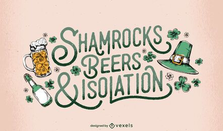 St. Patricks Kleeblatt Schriftzug