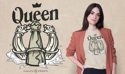 Chess queen t-shirt design