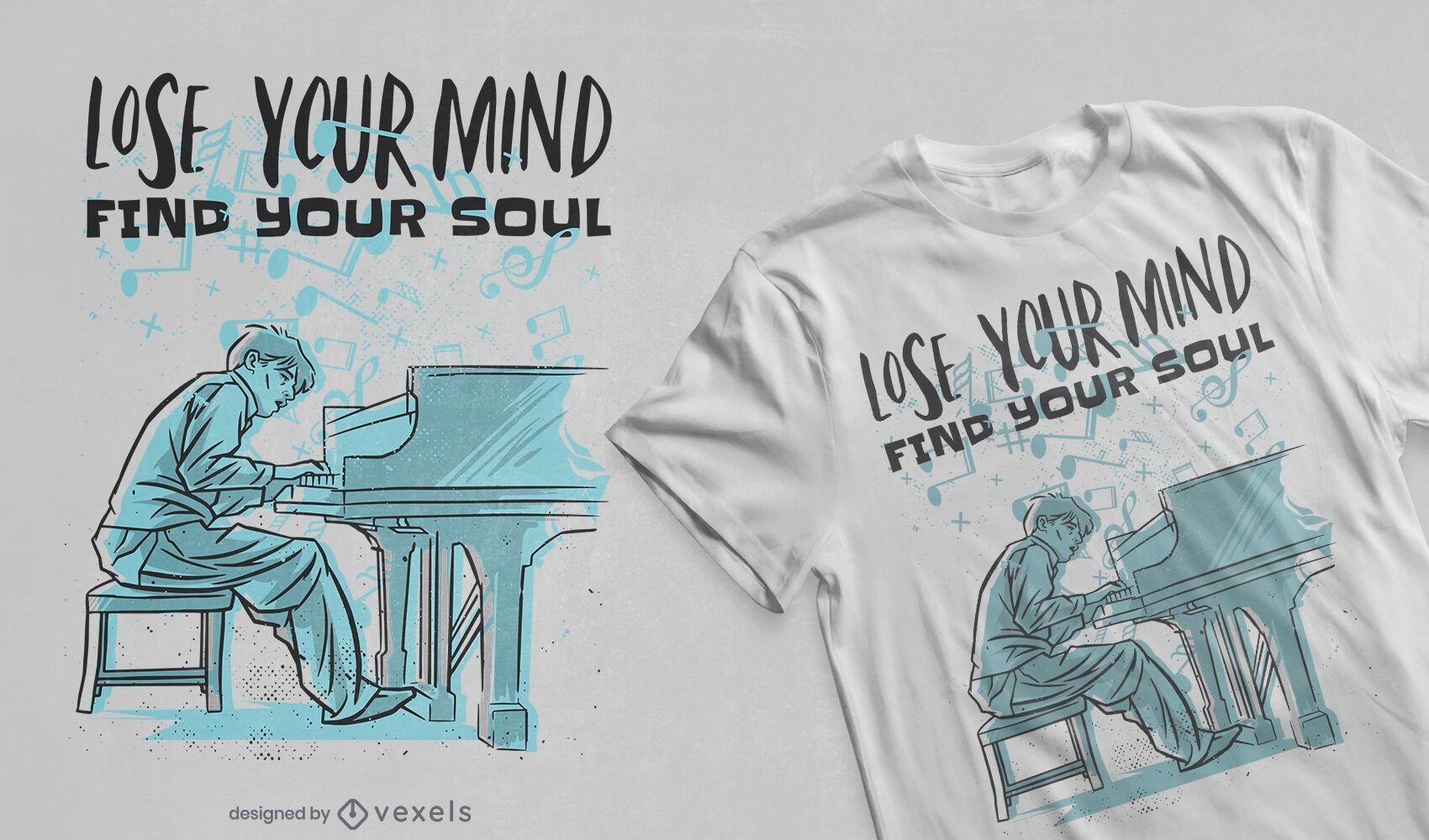 Find your soul t-shirt design