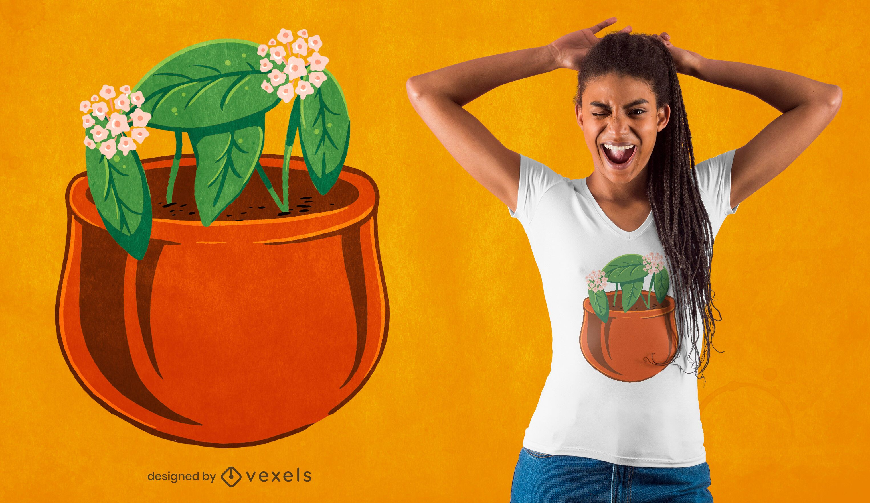 Hoya carnosa plant t-shirt design