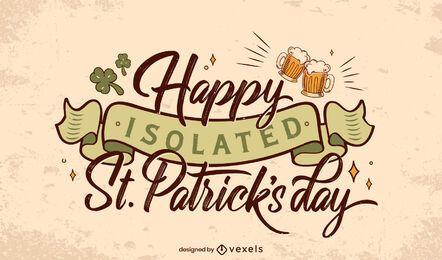 St. Patricks isolierte Beschriftung