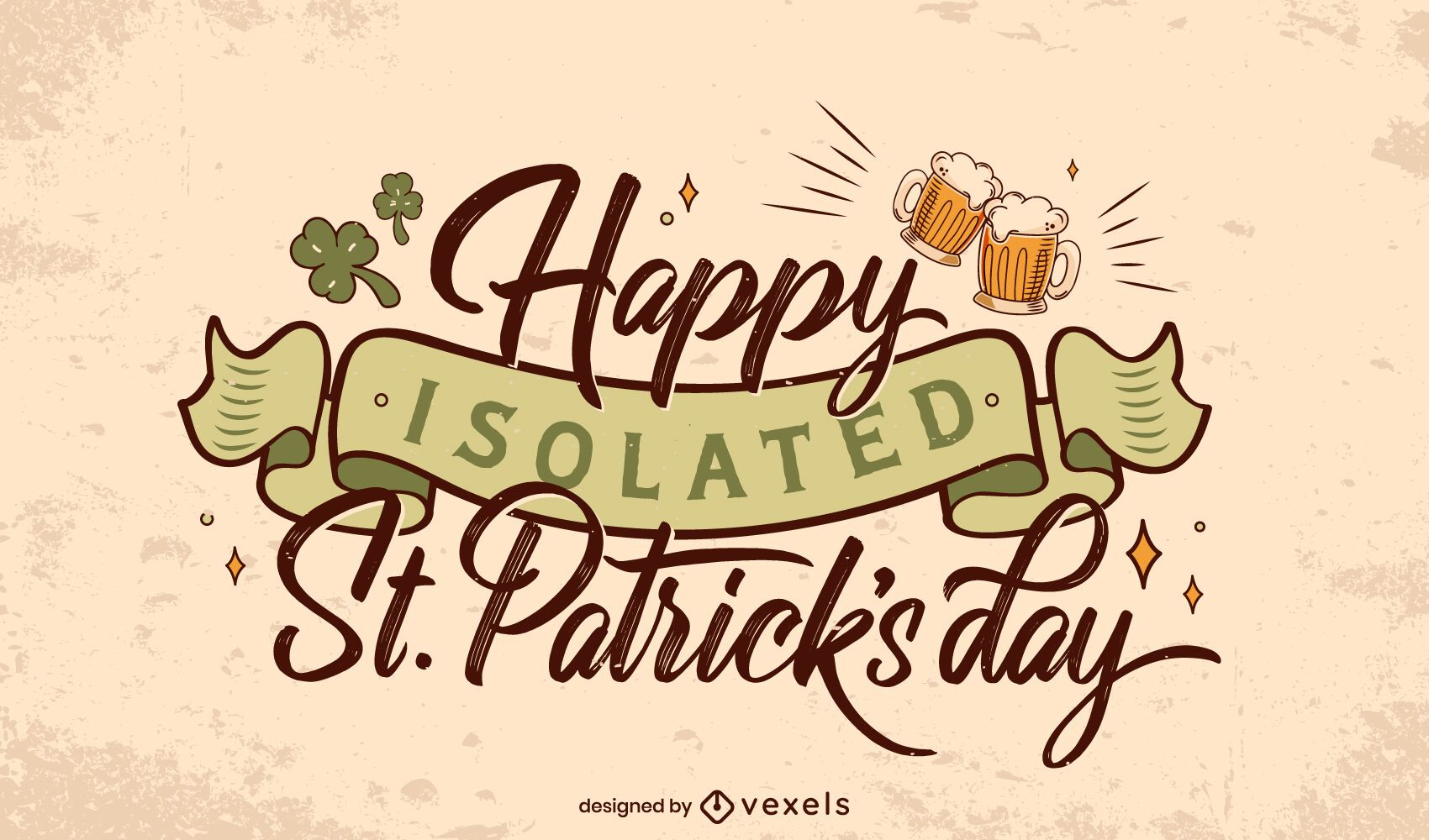 St Patricks isolated lettering