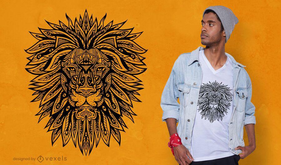 Lion mandala t-shirt design