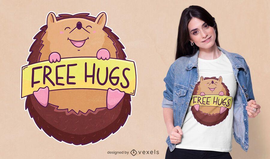 Design de camisetas grátis abraços