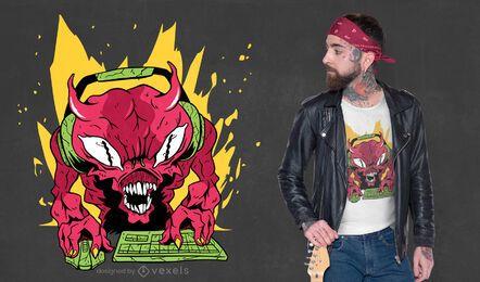 Gamer demon t-shirt design