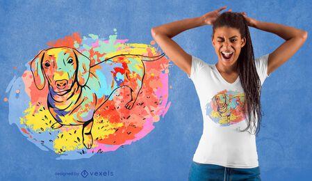 Desenho de t-shirt aquarela Dachshund