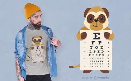 Desenho de camiseta de meerkat com gráfico de olho